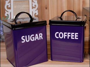 格陵岛zakka杂货 原单正品高档深紫色铁皮小方盒铁盒茶叶罐 特,铁盒,