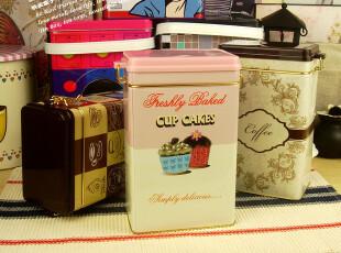 coffee密封咖啡豆储存罐 马口铁收纳盒 zakka铁盒收纳,铁盒,