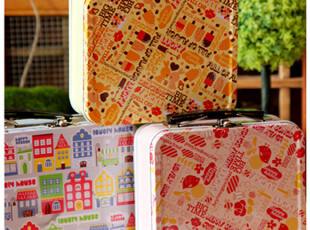 出口欧洲 缤纷色彩 手提箱 马口铁 铁盒|糖果盒|礼品盒|收纳盒,铁盒,