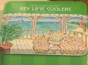 海滩的下午茶时光 异域风 铁皮盒子 复古铁盒 家居收纳盒,铁盒,