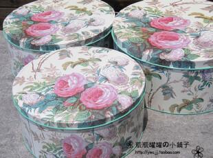 『江浙沪满68免邮』加厚超大号双色月季 套三收纳盒铁盒拆单卖,铁盒,