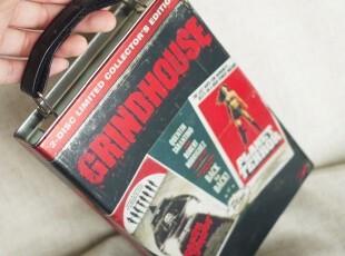 出口德国 《Grindhouse刑房》磨砂做旧收纳铁盒 电影DVD收藏提箱,铁盒,