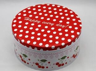 外贸铁盒 彩色铁皮盒波点收纳盒盒礼品盒包装盒饼干盒,铁盒,