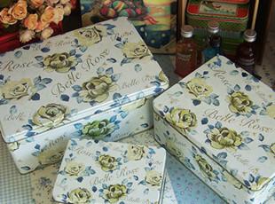 超特惠 恋爱玫瑰 大号套装铁盒 铁皮收纳盒 饼干铁盒 储物铁盒子,铁盒,
