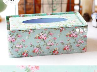 【大号新款】【纸巾盒】蔚色花海 加大田园款铁皮抽纸盒 铁盒收纳,铁盒,