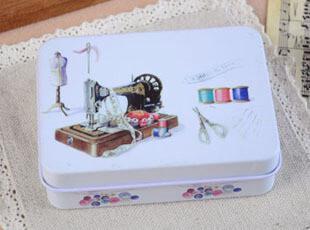 zakka杂货 复古怀旧 缝纫机针线盒 磁带铁盒 老爷车铁盒 收纳盒,铁盒,