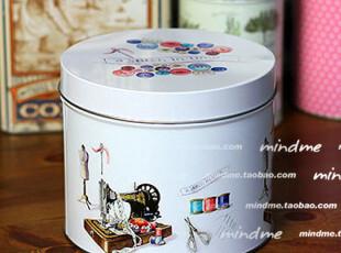 外贸原单收纳盒白色铁皮盒子 欧式怀旧储物盒铁盒密封罐 时光流转,铁盒,