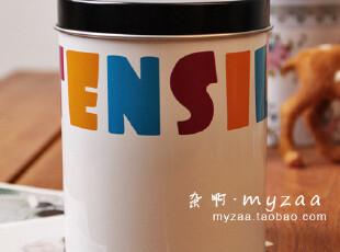 zaa杂啊 UTENSILS- 圆罐铁盒 精美zakka收纳 简约马口铁收纳盒,铁盒,