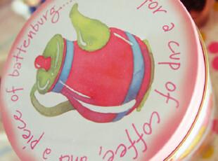 甜美粉红午茶糕点马口铁盒铁皮饼干罐 糖果铁盒储物收纳盒,铁盒,