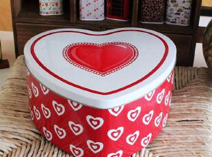 原单红桃爱心铁皮桶 收纳桶 饼干盒 礼物盒 马口铁盒多款,铁盒,