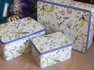 超大外贸绚彩花朵铁盒糖果铁皮盒饼干盒收纳铁盒子[怡品杂货],铁盒,