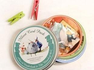 韩国indigo 精美铁盒卡片组合-3款选 卡片35张+贴纸10张,铁盒,