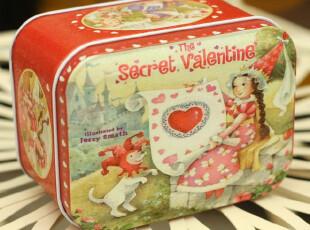 外贸 英国原单 复古 可爱铁皮收纳盒 爱丽丝仙境 糖果盒 铁盒,铁盒,