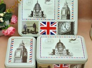 半岛铁盒三件套 桌面收纳盒韩国创意礼品储物盒子 马口铁家居用品,铁盒,