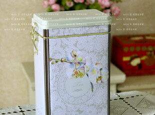 茶叶罐 铁盒马口铁茶叶罐 铁皮收纳盒 储物盒储物罐 带扣密封罐,铁盒,