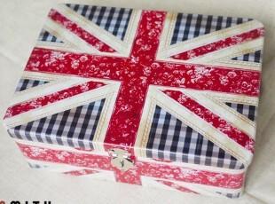UK英格兰|英国国旗-整张 带钥匙带锁铁盒 桌面收纳大铁盒,铁盒,