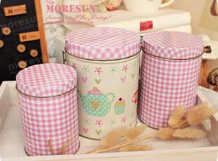 来扮家家酒。铁盒 铁皮收纳罐 零食罐 茶叶罐 咖啡罐。三只套,铁盒,