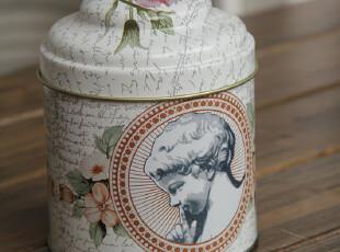 出口欧洲 双层盖茶叶罐 铁盒  ZAKKA家居收纳盒,铁盒,