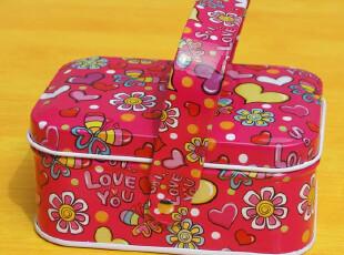满月喜蛋盒创意婚庆喜糖盒喜烟盒 带手提 手挽方形马口铁盒 特价,铁盒,