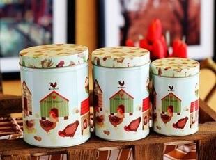 铁皮收纳盒 茶叶罐 茶叶盒子 铁皮盒 创意收纳 马口铁盒 房子鸡,铁盒,