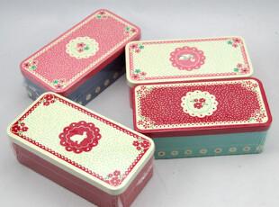 天克铁盒【碎花】铁质收纳盒饼干盒喜糖收纳盒 大号马口铁盒,铁盒,