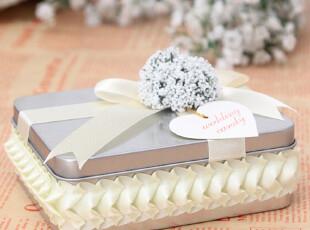 新款婚庆用品欧式喜糖盒马口铁喜糖盒子方铁盒大号个性创意盒,铁盒,