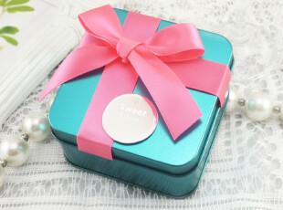 上新 婚庆用品批发创意个性欧式蓝色喜糖盒子 铁盒 喜糖包装中号,铁盒,