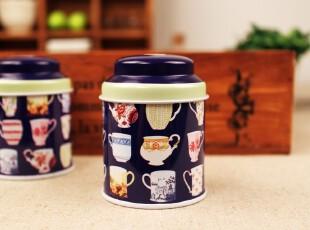 【欧单】英式下午茶 mini茶叶罐 花茶罐 首饰盒 外贸马口半岛铁盒,铁盒,