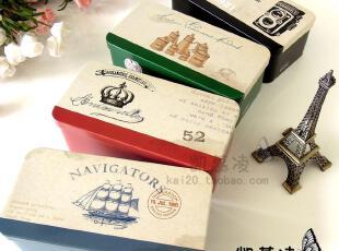 家居储物收纳盒子 欧式复古怀做旧铁盒 桌面整理盒 办公文具笔盒,铁盒,
