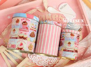 pinky,甜心。铁盒 铁皮收纳罐 零食罐 茶叶罐 咖啡罐。三只套,铁盒,