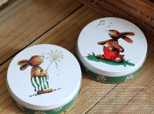 千度悠品 音乐兔子 铁皮 小药盒 卡片盒 糖果盒 化妆盒 小铁盒,铁盒,