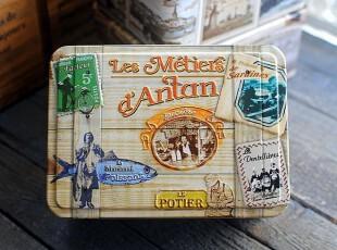 外贸铁盒 美式复古风格 旧日时光 方形铁盒 收纳盒 job,铁盒,