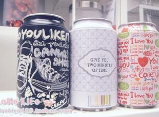 LoHo乐盒:独家!趣味易拉罐 创意个性礼品铁盒  收纳铁盒 可乐罐,铁盒,