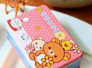 可爱文具。日本 轻松熊秘密铁盒 收纳盒 杂物盒 小铁盒,铁盒,