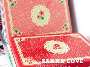 大碎花铁盒-韩国 ZAKKA 清新文艺 森林系 碎花 铁盒 收纳盒,铁盒,