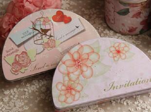 月亮形 ZAKKA风 唯美铁盒 杂物盒 针线盒 化妆盒,铁盒,