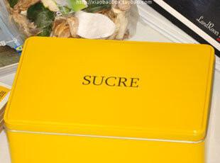 糖果色彩 烤漆黄SUGAR翻盖盒|铁盒|收纳盒|简约|宜家|Zakka|热卖,铁盒,