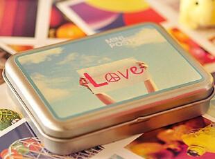 F250 韩国文具 Soulmate新款 LOMO风格 半岛铁盒mini卡片组 4款,铁盒,