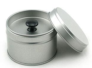 特价!矮款/时尚银色密封圆形茶叶罐金属铁盒/茶叶盒茶包装,铁盒,