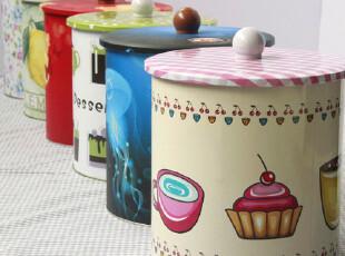 大号带盖圆形收纳桶 密封罐 收纳罐饼干桶 收纳盒储物 铁盒圆罐,铁盒,