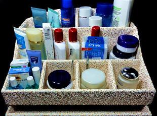 T1化妆品收纳盒抽屉式大号遥控器塑料桌面纸盒铁盒木质宜家韩国,铁盒,