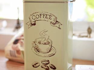 zaa杂啊 coffee系列-咖啡豆 马口铁盒密封储物罐 咖啡罐收纳罐,铁盒,