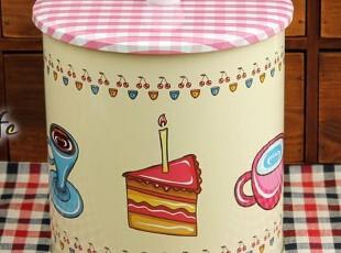 卡通风格 饼干桶 零食收纳罐 干果桶 杂物罐 半岛铁皮盒,铁盒,