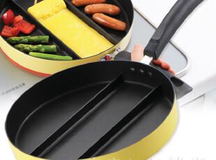 日式寿司锅 料理煎锅 三格煎蛋锅 平底锅 三格煎盘 煤气适用,锅具,