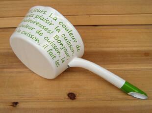『樂樂堂』 绿花系列 15cm搪瓷锅珐琅锅 汤锅 奶锅,锅具,