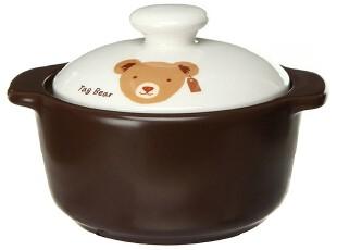 『韩国进口家居』R916 可爱小熊小兔*燕窝雪梨羹用石锅*单人炖锅,锅具,