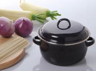 欧润哲 7.1折 搪瓷锅珐琅锅汤锅 带盖搪瓷碗韩国泡面锅日本牛奶锅,锅具,