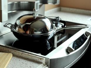 JP3639 高品质厨房锅具 304不锈钢 三层覆底32CM炒锅,锅具,