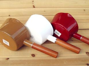 『樂樂堂』出口原装纯色系列15cm搪瓷锅珐琅锅奶锅汤锅 三色入,锅具,