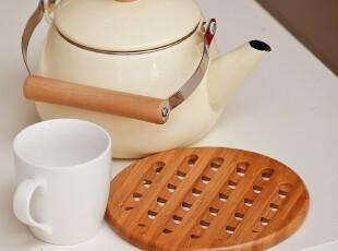 防水大号圆形 软木艺术餐垫隔热垫 碗垫盘垫欧式茶垫田园杯垫木垫,隔热垫,